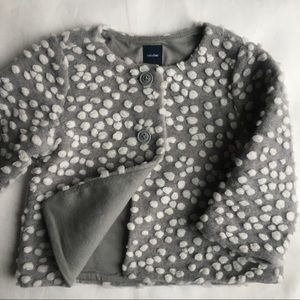 Gap sweater size 6 12 months lined jacket gray